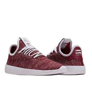 Adidas PW HU Primeknit Tennis Shoe Burg/Wh Sz 7